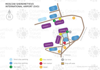 Map of Sheremetyevo airport & terminal (SVO)